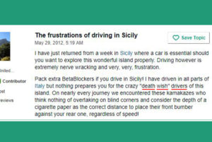 driving sicily