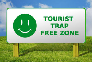 no tourist trap sign